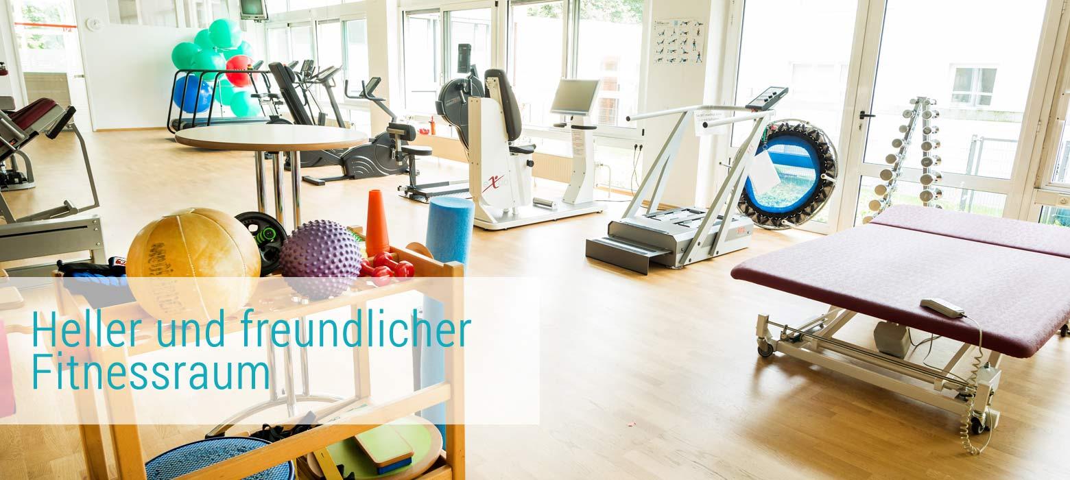 Fitnessstudio Köln-Longerich, Köln-Nord, freundlicher Fitnessraum bei ProPhysio Köln